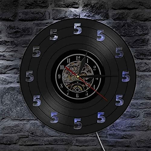 30X30CM 1 pezzo è sempre cinque o orologio LED lampada da...
