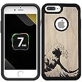 CorpHülle - Hybrid-Schutzhülle für iPhone 7 Plus/iPhone 8 Plus – tolle Wave Kanagawa/einzigartige Hülle mit großartigem Schutz