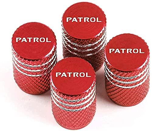 4 Piezas Coche Tapas Para VáLvulas Para Nissan X-Trail Qashqai Juke Kicks Patrol, Antirrobo Antipolvo Resistente Agua DecoracióN Accesorio