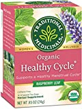 Traditional Medicinals Organic Healthy Cycle Women's Tea (Pack of 6), Menstrual Cycle Support, 96...