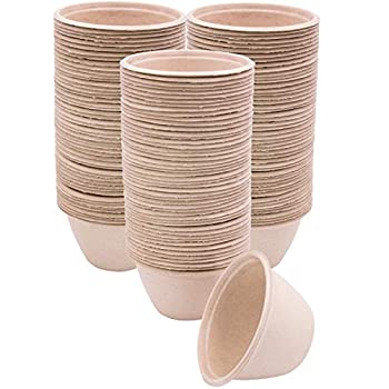 100 Pk of 6 oz Compostable Eco Friendly Bowls Bulk Paper Bowls Disposable and Biodegradable for Chili Soup Stew