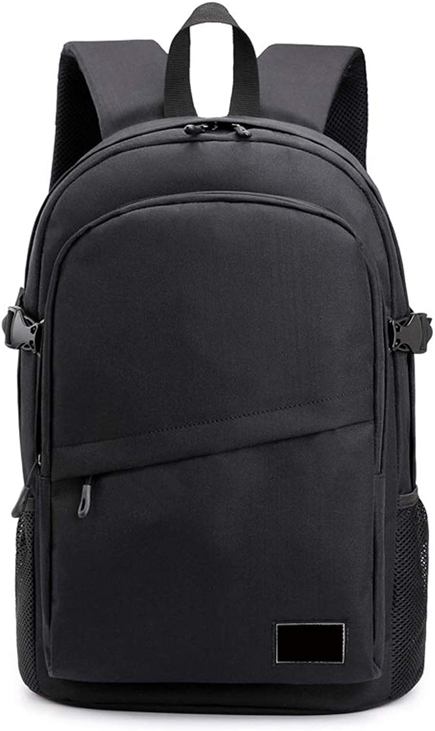 Backpack Men's Fashion Computer Backpack for Adult Men and Women, Casual Versatile Simple LargeCapacity Backpack Can Accommodate Computer Size 15 Inches (color   Black)
