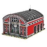 WWEI Ciudad de estación de tren mágica arquitectura de casa, bloques de construcción, construcción modular, 8703 piezas, bloques de sujeción, compatible con Lego 10277 10257 60197