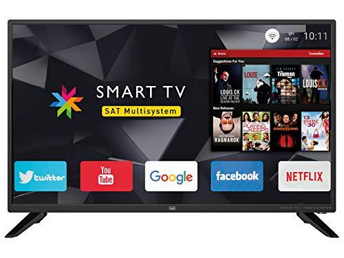 Trevi 3208Sm00 Litriv 3208 Smart Televisore Smart TV 32' HD con Decoder Digitale Dvbt-T2 e Satellitare Dvbs-S2, Sistema Operativo Android, Risoluzione 1366 X 768 Dpi HD Ready