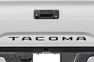 BLACK TAILGATE INSERT LETTERS DECALS INLAY INDENT VINYL STICKERS for TOYOTA TACOMA SR5 SR + TRD PRO BASE LIMITED ESPECIAL EDITION OFF-ROAD SPORT CREW EXTENDED CUB V6 2016 2017 2018 2019 2020 BRAND NEW
