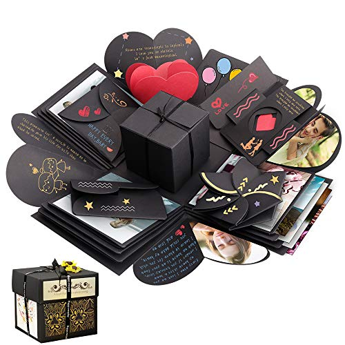Explosion Box, Geschenkbox, Sporgo Kreative Überraschung Box DIY Fotoalbum Handgemachtes Scrapbook Geschenk für Geburtstag, Weihnachten, Jahrestag, Valentinstag, Heiratsantrag, Hochzeit, Muttertag