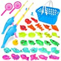 Beaure 35-Pieces Magnetic Fishing Toys Game