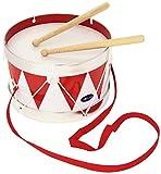 Goki ´Cause 61001 - Tambor de hojalata, Color Blanco y Rojo