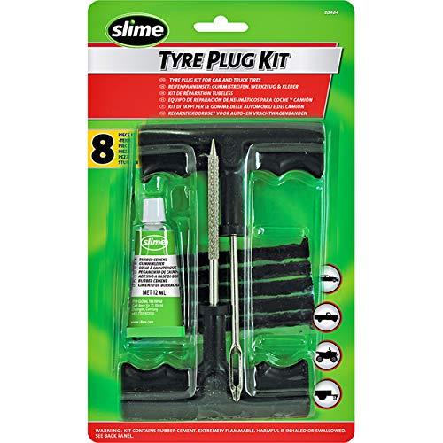 Slime 20464 Kit de Reparación de Neumáticos, Reparación de Pinchazos, Coches, Motos, Tráileres, Vehículos Todoterreno y fuera de Carretera, Carretillas, Cortacésped, Conjunto de 8piezas
