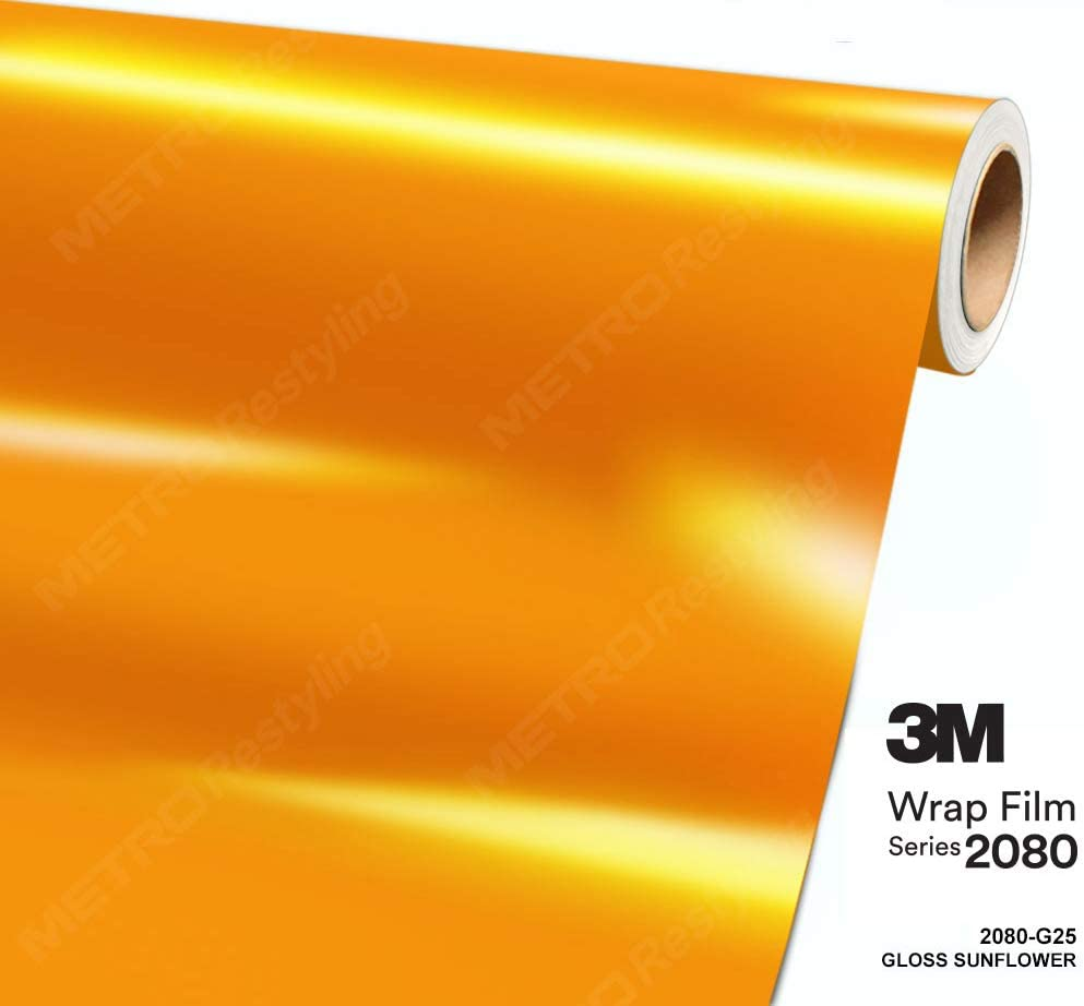 3M 2080 G25 GLOSS SUNFLOWER Car Wrap Vinyl Film