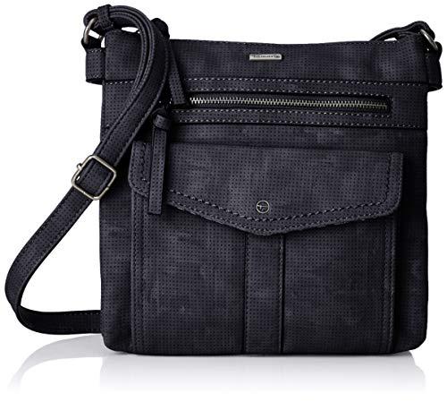 Tamaris Damen Adriana Crossbody Bag M Umhängetasche, Blau (Navy), 4,5x24x25 cm