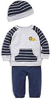 Little Me 男童狮子运动衫,慢跑裤和帽子套装,6 个月