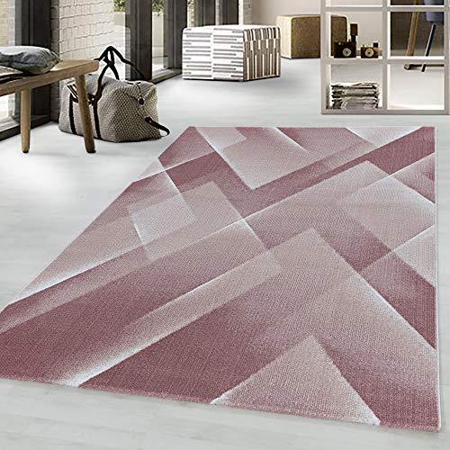 Costa Trend - Tappeto con motivo geometrico, 200 x 290 cm, colore: Rosa