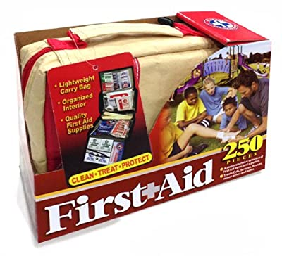 Be Smart Get Prepared 250 Piece First Aid Kit, 1.813 Pound by Be Smart Get Prepared