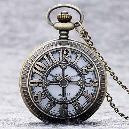 Water cup Vintage Pocket Watch Pocket Watch Fashion Number Hollow Quartz Pocket Watch Necklace Pendant Women Men