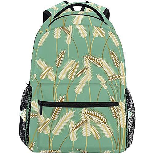 Kinderrucksäcke,Pflanzen Sie Gerste Grass Grain Bequeme Reisetaschen Für Das Klettern Beim Reisen,40cm(H) x29cm(W)