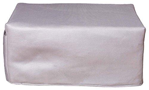 CANAPES TISSUS BRIO Pouf Convertible Canapé-Lit, Polyester, Gris, 81 x 62 x 36 cm