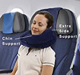 TravelMate Memory Foam Neck Pillow with Variable Thickness (Blue, 12 x 12 x 6 inch)