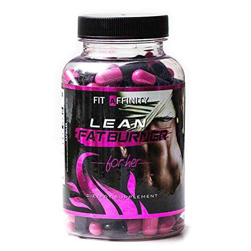 FIT AFFINITY: Lean Fat Burner for Her - Made for Women • Best All Natural Weight Loss Pills - Thermogenic Fat Loss Supplement & Appetite Suppressant Diet Pills - 45 Day Supply (90 Capsules)