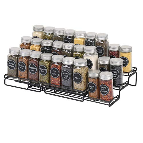 SWOMMOLY Expandable 4-Tier Spice Rack Organizer, for Cabinet...