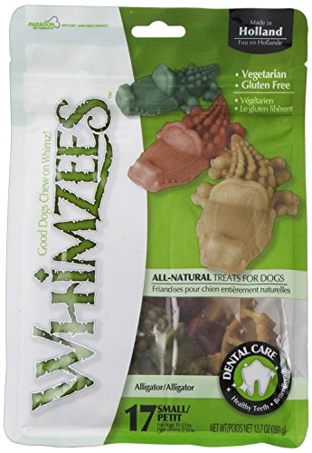 WHIMZEES 22541/3041 Krokodil S | 150 Stück vegetarische Hundesnacks