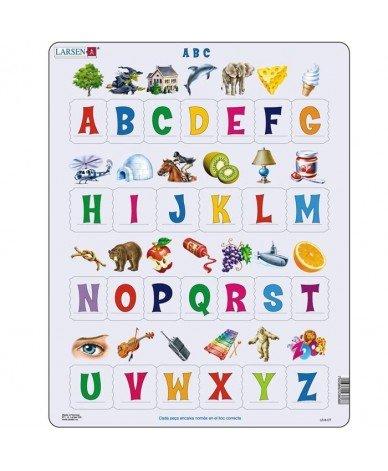 Larsen - Puzzle éducatif ABC puzzle pour apprendre les lettres Puzzles en CATALAN 26 pièces