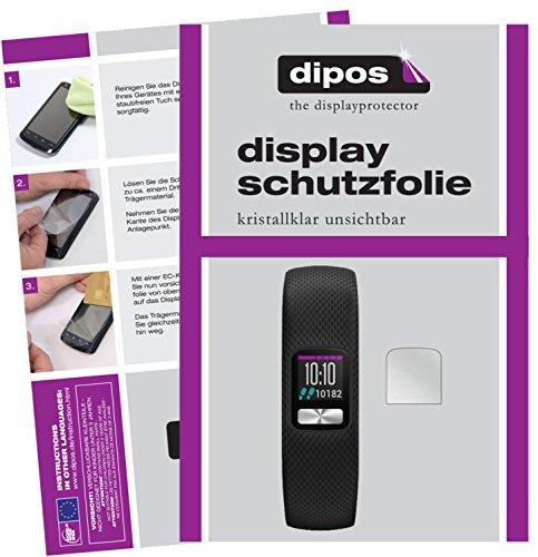 dipos I 6X Schutzfolie klar kompatibel mit Garmin Vivofit 4 Folie Bildschirmschutzfolie