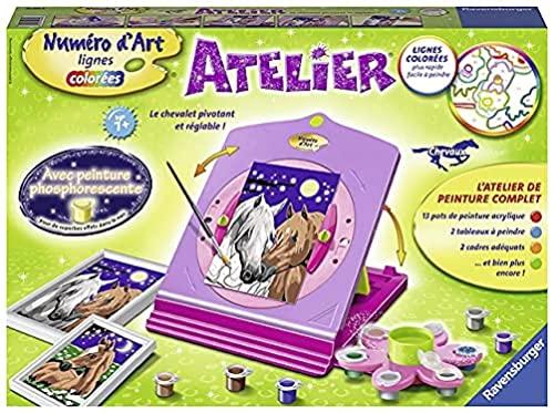 Ravensburger- Atelier Numéro d'Art Chevaux Loisir Créatif, Color (29695)