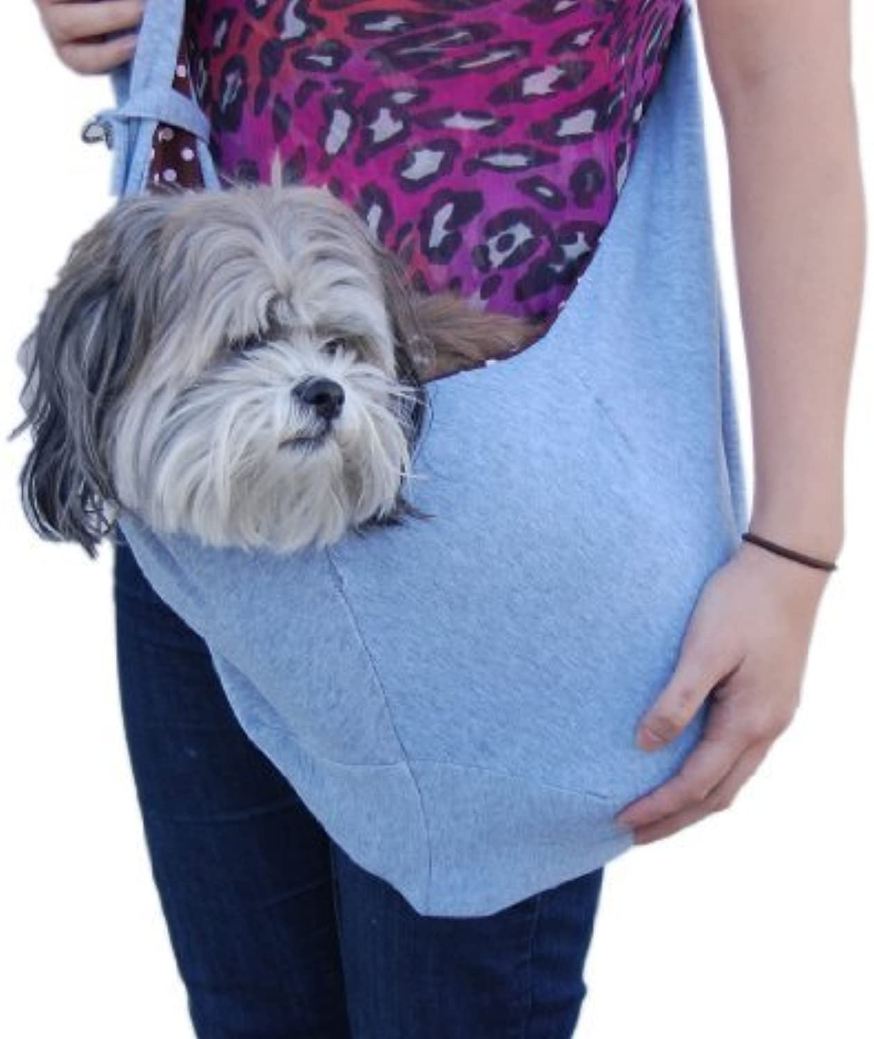 Anima Grey Cotton Sling Bag Carrier, 20Inch by 11Inch by Anima International Corp.