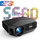 Projektor, 4600 Lumen, Full HD, unterstützt 1920 x 1080P, Heimkino-Projektor, HiFi-Sound, LED-Projektor, 60000 Stunden, niedriger Raum, Video, flüssig, PS4, HDMI, USB, VGA, AV