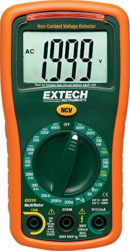 Extech EX310 Manual Ranging Mini Multimeter with Battery...