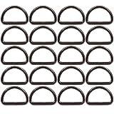 BIKICOCO - Hebilla de anillas en D de metal, 3,2 x 2 cm, no soldada, para coser bricolaje - Gunmetal - 20 piezas
