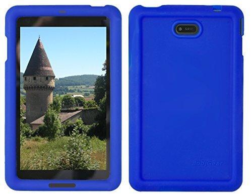 Bobj Rugged Case for Dell Venue 7 Tablet (Models 3730, 3740) - BobjGear Custom Fit - Patented Venting - Sound Amplification - BobjBounces Kid Friendly (Batfish Blue)