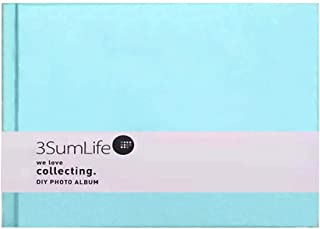 3SumLife Scrapbook Polaroid Photo Album DIY Fujifilm Instax Album Hard Cover Elegant Memory Book With Accessories Christmas Family Valentines Day Thanksgiving Day and Birthday Gift 4C(blue)