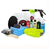 Chemical Guys HOL126 ? 14-Piece Arsenal Builder Car Wash Kit with TORQ Blaster Foam Gun & Bucket, (5) 16 oz Bottles (Gift for Car & Truck Lovers, Dads and DIYers)