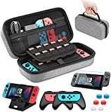 Case Compatible with Nintendo Switch Carry Case Pouch Switch Cover Case 6 Joycon Grips and PlayStand for Nintendo Switch Screen Protector Thumb Grips Caps