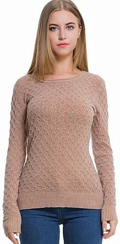 BaiChunYunYi Damen Kurz Pullover-Lässig Alltäglich Einfach Einfach Einfach Solide Rundhalsausschnitt Langarm Polyester Frühling Herbst Mittel Dehnbar B074XDCGPB  Gewinnen Sie das Lob der Kunden c8867d