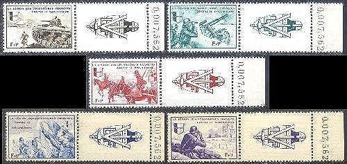 Goldhahn Deutsche Besetzung Frankreich Nr.VI-X postfrisch mit Bogenz er- Briefürken für Sammler