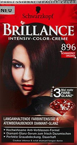 Schwarzkopf Brillance Coloration Stufe 3, 896 Schwarzrot Organdi, 143 ml