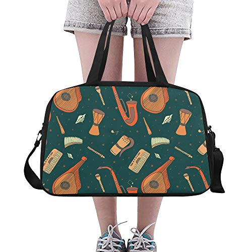 XiexHOME Cute Tote Bag Noble Beautiful Retro Musical Piano Yoga Gym Totes Fitness Handbags Duffel Bags Shoe Pouch For Sport Luggage Womens Outdoor Womens Totes