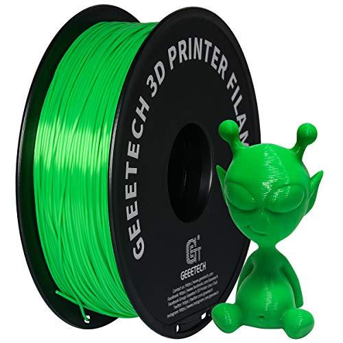 GEEETECH 3D Printing Filament, PLA Filament 1.75mm PLA Filament For 3D Printer,Green