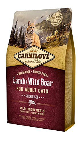 Carnilove für erwachsene, sterilisierte Katzen, Lamm, 2 kg