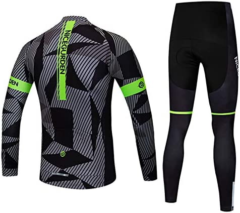 Deportes Bicicleta De Monta/ña Desgaste Primavera Oto/ño Transpirable Ropa imyth Hombre Manga Larga Trajes De Ciclismo Conjunto Camisa Pantalones Acolchados