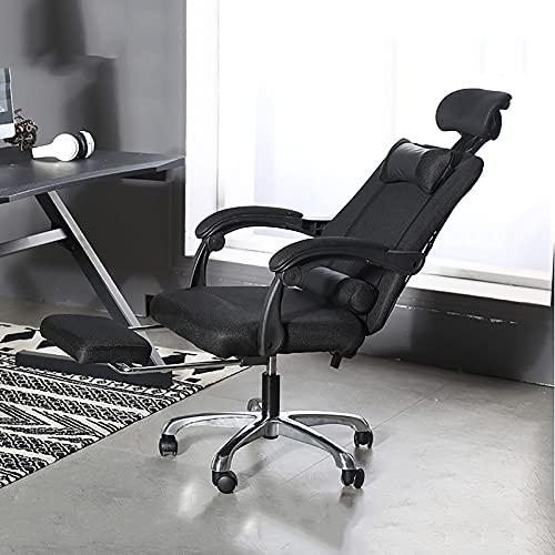 Sedia da Ufficio reclinabile, Sedia Girevole da scrivania direzionale con Angolo di inclinazione Regolabile e Supporto Lombare
