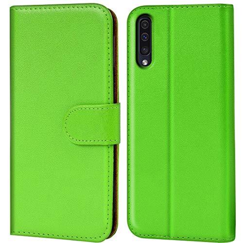 Verco Galaxy A50 Hülle, Samsung A30s Hülle Handyhülle für Samsung Galaxy A50 Tasche PU Leder Flip Hülle Brieftasche - Grün