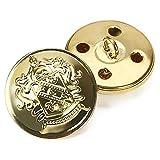 Bottoni in metallo stile retrò, bottoni decorativi per cappotto, accessori da cucito 12pezzi, dorati, Gold, 20 mm