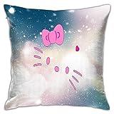 ChenZhuang Hello-Kitty - Fundas de almohada cuadradas para sofá, dormitorio, Livi.