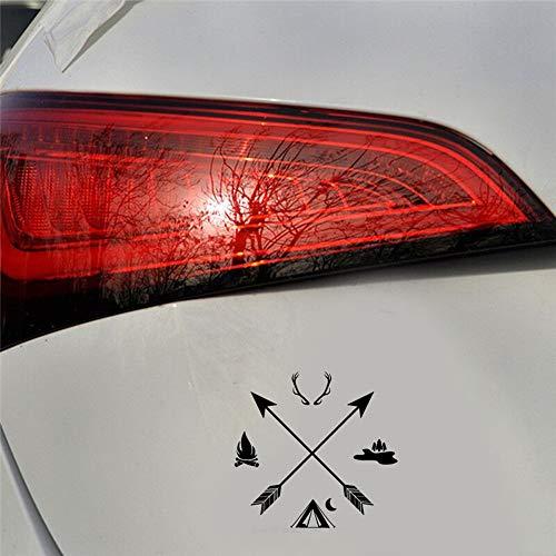 15 cm x 14,5 cm Aufkleber Auto Aufkleber Hunter Camping Pfeile ethnischen Stil Auto Aufkleber Laptop Aufkleber schwarz