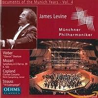 レヴァイン&ミュンヘン・フィル・ライヴ Vol.4 ウェーバー:オベロン序曲/R.シュトラウス:ティル・オイレンシュピーゲルの愉快ないたずら/モーツァルト:交響曲第39番/コープランド:クラリネット協奏曲