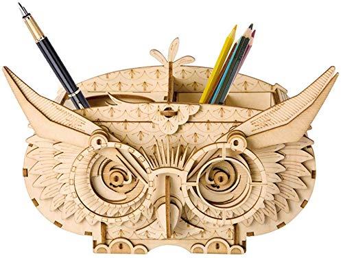 ZGYQGOO 3D Holz Puzzle Eule Desktop Aufbewahrungsbox Puzzle Spiel Spielzeug Hobby Modellbau Kit Kinder Bildung Baby und Kleinkind Kreatives Spielzeug